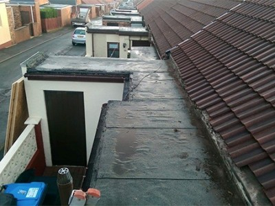 Rubber Roofing Before